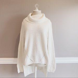 Anthropologie Moth High Low Turtleneck Sweater